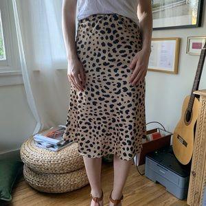 Dresses & Skirts - Satin Leopard Skirt